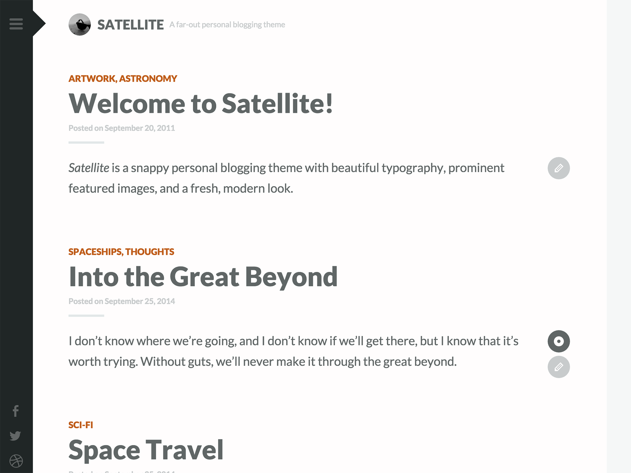 Satellite WordPress Theme